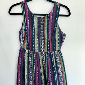 Free people Colorful baby doll dress